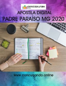 APOSTILA PREFEITURA DE PADRE PARAÍSO MG 2020 NUTRICIONISTA