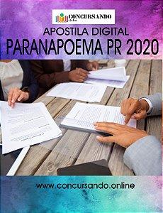 APOSTILA PREFEITURA DE PARANAPOEMA PR 2020 AUXILIAR DE CONTABILIDADE
