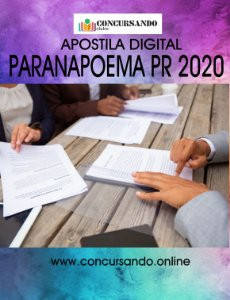 APOSTILA PREFEITURA DE PARANAPOEMA PR 2020 PROFESSOR