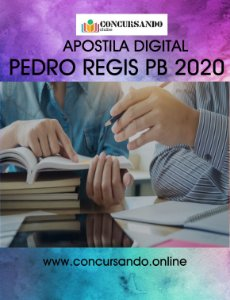 APOSTILA PREFEITURA DE PEDRO REGIS PB 2020 AGENTE COMUNITÁRIO DE SAÚDE