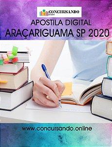 APOSTILA PREFEITURA DE ARAÇARIGUAMA SP 2020 PEB II - PROFESSOR DE MATEMÁTICA