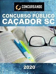 APOSTILA PREFEITURA DE CAÇADOR SC 2020 TÉCNICO EM AGRIMENSURA