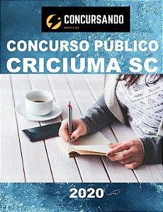 APOSTILA PREFEITURA DE CRICIÚMA SC 2020 PROFESSOR DE EDUCAÇÃO FÍSICA