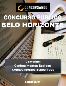 APOSTILA PREFEITURA DE BELO HORIZONTE MG 2021 ENFERMEIRO