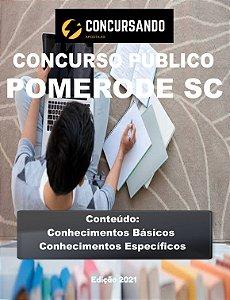 APOSTILA PREFEITURA DE POMERODE SC 2021 PEDAGOGO