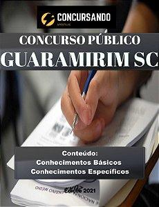 APOSTILA PREFEITURA DE GUARAMIRIM SC 2021 PROFESSOR DE MATEMÁTICA