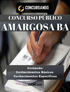 APOSTILA PREFEITURA DE AMARGOSA BA 2021 NUTRICIONISTA
