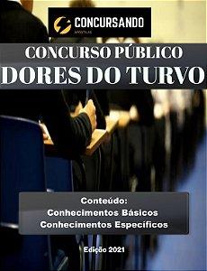 APOSTILA PREFEITURA DE DORES DO TURVO MG 2021 PSICÓLOGO - EDUCAÇÃO
