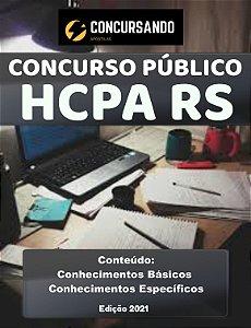 APOSTILA HCPA RS 2021 TÉCNICO DE ENFERMAGEM (EMERGÊNCIA ADULTO)