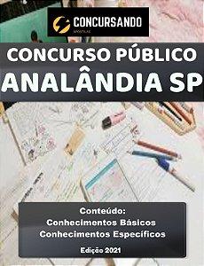 APOSTILA PREFEITURA DE ANALÂNDIA SP 2021 PROFESSOR DE EDUCAÇÃO BÁSICA II - MATEMÁTICA