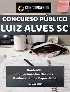 APOSTILA PREFEITURA DE LUIZ ALVES SC 2021 NUTRICIONISTA NASF/SMS