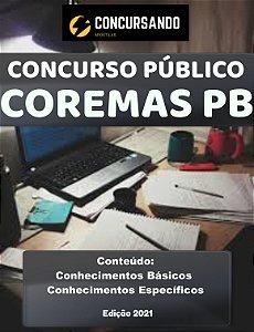 Apostila COREMAS PB 2021 Agente Administrativo