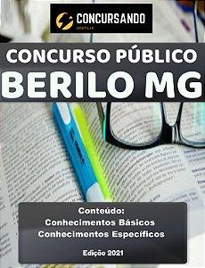 Apostila PREFEITURA DE BERILO MG 2021 Professor de Educação Básica