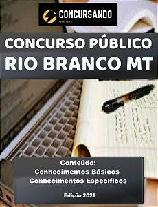 APOSTILA PREFEITURA DE RIO BRANCO MT 2021 PROFESSOR DE INGLÊS