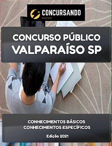 APOSTILA PREFEITURA DE VALPARAÍSO SP 2021 PROFESSOR DE APOIO