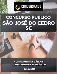 APOSTILA PREFEITURA DE SÃO JOSÉ DO CEDRO SC 2021 PROFESSOR DE EDUCAÇÃO INFANTIL