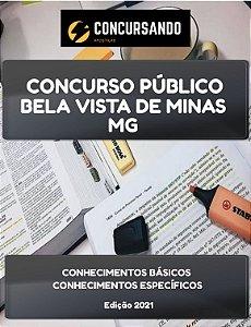 APOSTILA PREFEITURA DE BELA VISTA DE MINAS MG 2021 ASSISTENTE SOCIAL (SAÚDE)