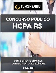 APOSTILA HCPA RS 2021 TÉCNICO DE LABORATÓRIO