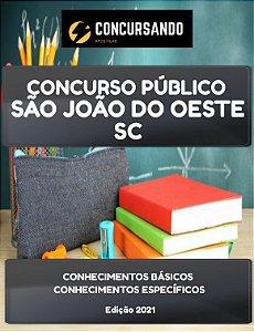 APOSTILA PREFEITURA DE SÃO JOÃO DO OESTE SC 2021 AGENTE COMUNITÁRIO DE SAÚDE