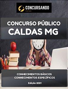 APOSTILA PREFEITURA DE CALDAS MG 2021 PROFESSOR DE EDUCAÇÃO BÁSICA II LÍNGUA ESTRANGEIRA