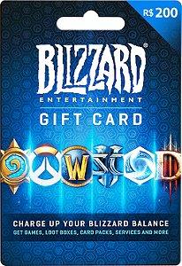 Cartão Blizzard Battle.Net R$ 200 Reais [PROMO MW]