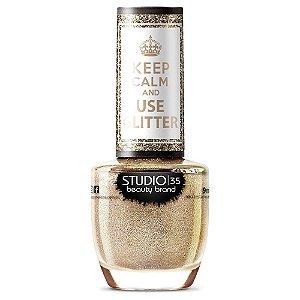 Esmalte Studio 35 AmoChampanhe - Coleção Use Glitter