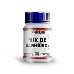 MIX DE MAGNÉSIO (TREONATO + DIMALATO + QUELADO) CÁPSULAS