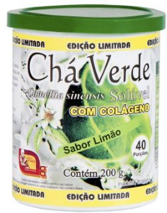 CHÁ VERDE COM COLÁGENO SABOR LIMÃO 200 G - MOSTEIRO DÉVAKAN