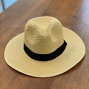 Chapéu de Palha Tipo Panamá - Nude