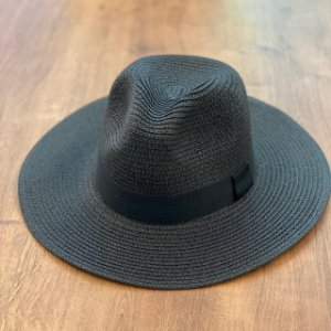 Chapéu de Palha Tipo Panamá - Preto