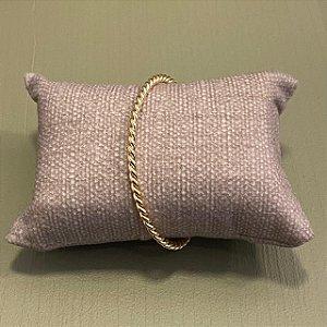 Bracelete Trançado - Dourado
