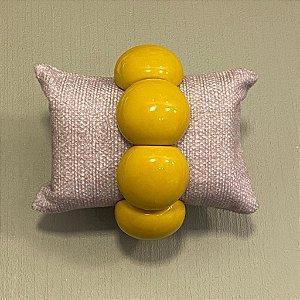 Bracelete de Bolas de Resina - Mostarda