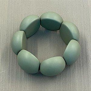 Bracelete de Bolas de Resina - Fosco - Verde