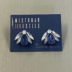 Brinco Abelhuda - Azul com Cristal