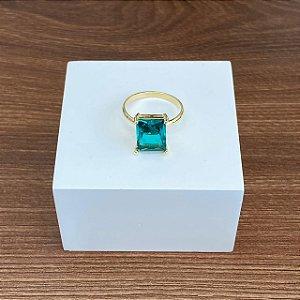 Anel Cristal Quadrado - Paraíba Verde