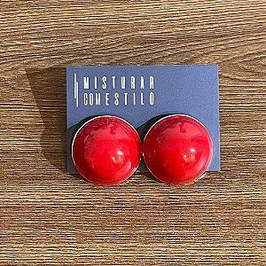 Brinco Bolão Sevilha - Vermelho