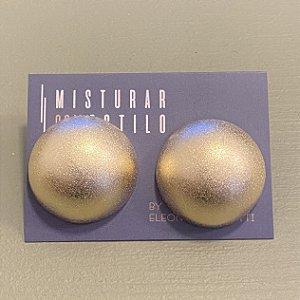 Brinco Bolão Fosco - G - Dourado