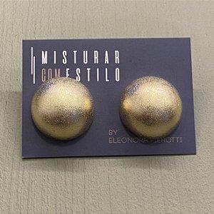 Brinco Bolão Fosco - M - Dourado