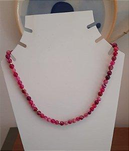 Colar Pedra Ibiza - Pink