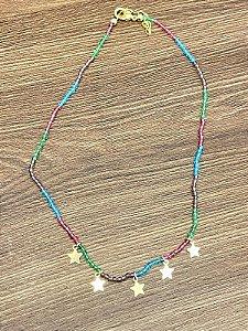 Colar Choker Bebela Estrela - Colors  Infantil