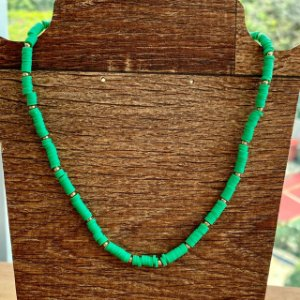 Colar Pastilha - Verde