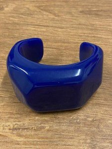 Bracelete Quadrado de Resina - Azul