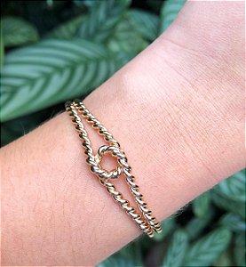Bracelete Bruna Trançado - Dourado