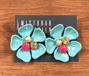Flor Havaiana - Azul Bebe