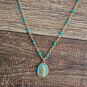 Colar Medalha Guadalupe - Madonna