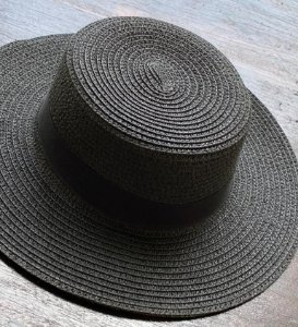 Chapéu de Palha Quadrado - Preto