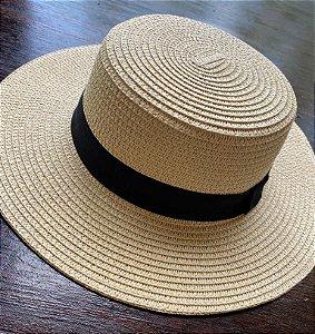 Chapéu de Palha Quadrado - Bege