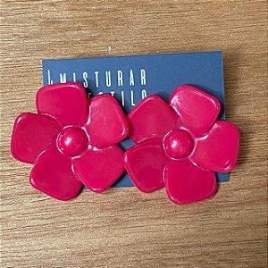 Brinco Flor Aberta - Pink