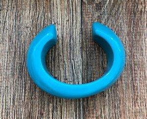 Bracelete Aberto de Resina - Turquesa
