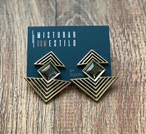 Brinco Infinito Triangular - Ouro Velho